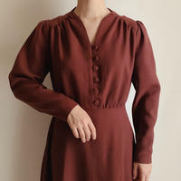 Euro Vintage Multiple Buttons Dress
