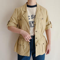 90's Euro Vintage Cotton Safari Jacket