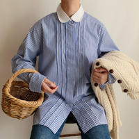 Euro Vintage Striped Long Shirt
