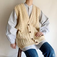 70's Over Silhouette Hand Knit Vest
