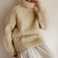 70's Irish Fishermans Turtleneck Knit Sweater