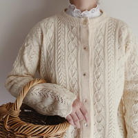 60 - 70's USA Open Work Knit Cardigan