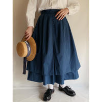 Double layer Cotton Volume Flare Skirt