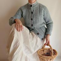 70's - 80's Irish Cable Hand Knit Cardigan