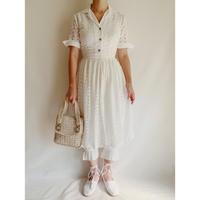 50's USA Cutwork Lace Flare Dress