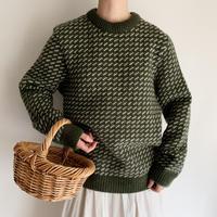 """90's """" L.L.Bean """" Birds Eye Knit Sweater"""