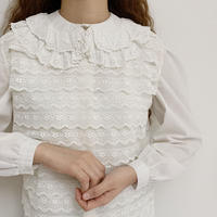 Euro Vintage Sleeveless Sheer Lace Blouse