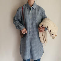 70's-80's Euro Vintage Plaid Printed Flannel Shirt