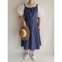 Euro  Vintage Flower Print Camisole Dress