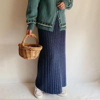 Euro Vintage Long Knit Skirt