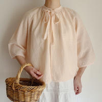 - 60's Euro Vintage Spring Knit Short Cardigan With Ribbon