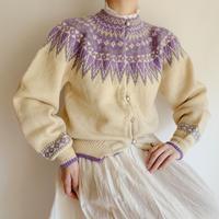60 -70's Nordic Hand Knit Cardigan