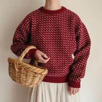 "80 's "" L.L. Bean ""  Bird's Eye Knitting Pattern Sweater"