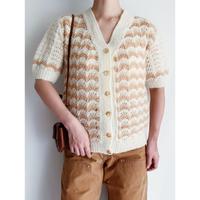 Euro Vintage Half Sleeve Knit Cardigan