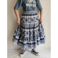 French Provence Circular Volume Silhouette Long Skirt