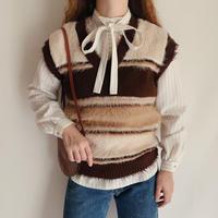 Euro Vintage Shaggy Knit Vest