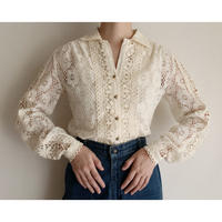 70's Euro Vintage All Over Lace Blouse