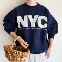 "90's USA "" NYC ""  Logo Printed Sweat Shirt"
