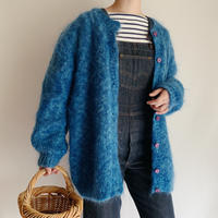 Euro Vintage Mohair Mix Knit Cardigan