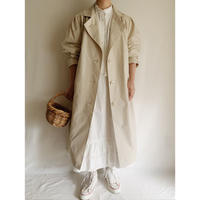 80's Euro Vintage Tuck Design Spring Long Coat