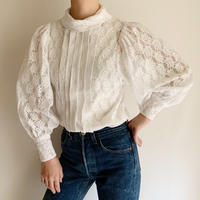 70's Euro Vintage Volume Sleeve Lace Blouse