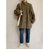 Euro Vintage Olive Mohair × Wool Blends Coat