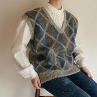 Icelandic Over Silhouette Knit Vest
