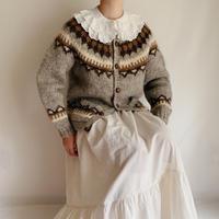 Icelandic Lopi Wool Knit Cardigan