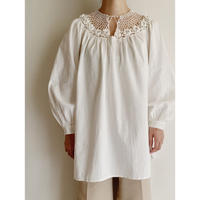 Euro Vintage Crochet Knit Design Tunic