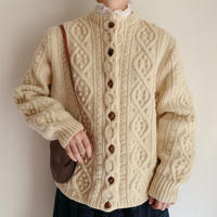 Irish Cable Hand Knit Cardigan