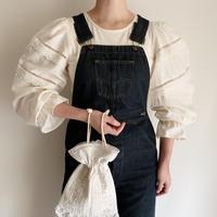 Euro Vintage Cotton Volume Sleeve Blouse