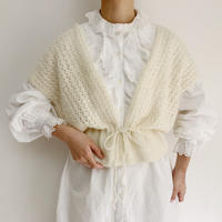 Euro Vintage Sleeve less Hand  Knit Top