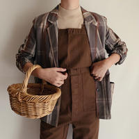 Euro Vintage Plaid Shirt Design Jacket