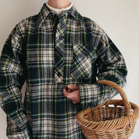 "70 's-80's USA "" L.L. Bean "" Pullover Plaid Wool Shirt"