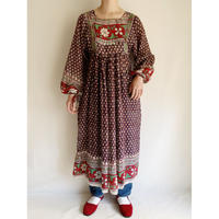 70's India Cotton Dress