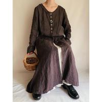 Euro Vintage Striped Long Dress