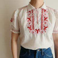 70's Euro Vintage Flower Embroidery Tunic
