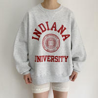 80's USA College Print Sweat Shirt