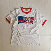 "80's USA Dead Stock "" Nike × Hanes "" Marathon Print Ringer Tee"