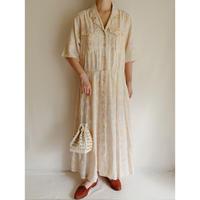 80's USA Front Buttons Long Shirt Dress