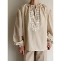 Euro Vintage Hand Embroidery Tunic