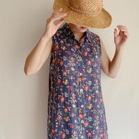 90's USA Vintage Flower Print Maxi Length Dress