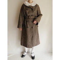 Euro Vintage Houndstooth Double Brested Coat