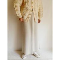 Euro Vintage Long Knit Skirt