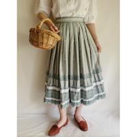 Euro Vintage Cotton Flare Tyrol Skirt