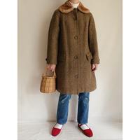 70's Euro Vintage Mouton Collar Aline Coat