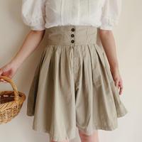Euro Vintage Cotton Culotte Half Pants