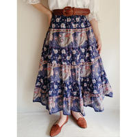 French Provence Volume Silhouette Long Skirt