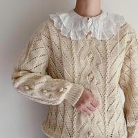 Euro Vintage Pompom Knit Sweater