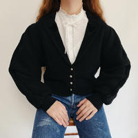 Euro Vintage Volume Sleeve Knit Cardigan